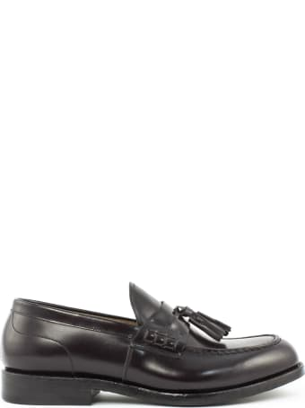Green George Bordeaux Leather Loafers