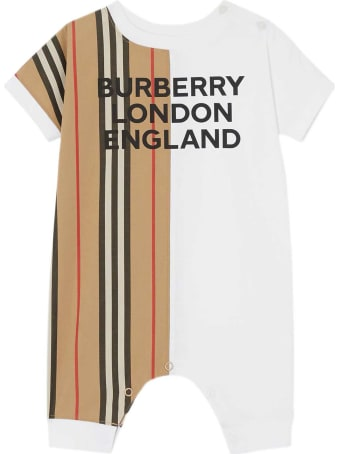 Burberry White Baby Suit