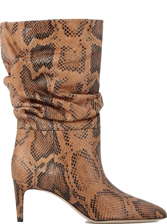 Paris Texas Slouchy Snake Printed Boot