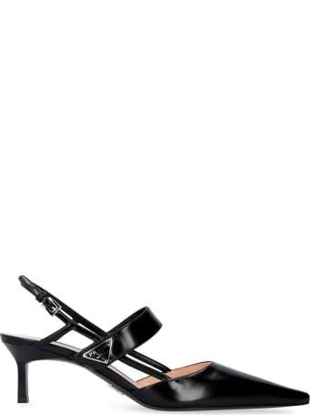 Prada Leather Pointy-toe Slingback