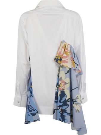 Antonio Marras Ruffled Detail Floral Print Shirt