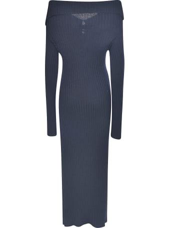 Lanvin Slim Knitted Long Dress