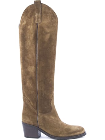 Via Roma 15 Brown Suede Boots