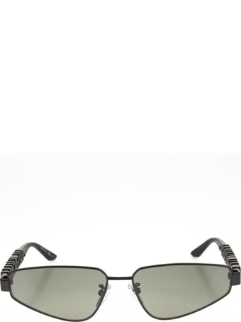 Balenciaga Black Typo Rectangle Sunglasses For Women