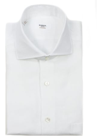 Barba Napoli White Linen Shirt