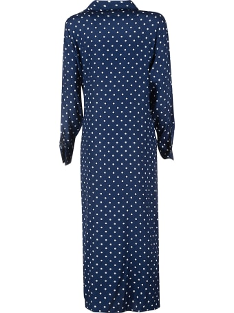 Parosh Sois Dotted Print Long-sleeved Dress