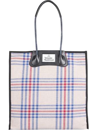 Vivienne Westwood Elena Tartan Tote Bag