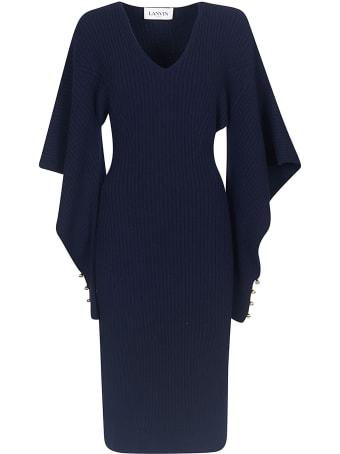 Lanvin V-neck Plain Dress