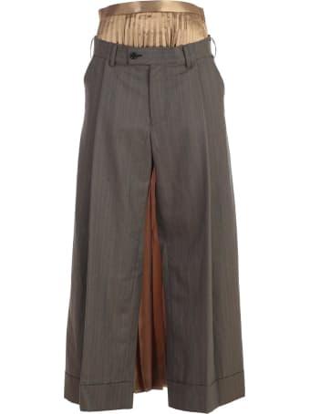 Junya Watanabe Comme Des Garçons Pants Skirt W/stripes