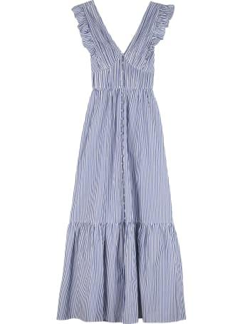 self-portrait Cotton Long Dress
