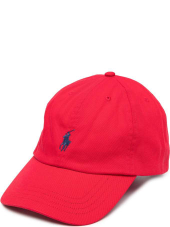 Polo Ralph Lauren Red Jersey Hat With Logo
