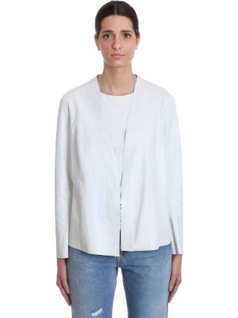 Salvatore Santoro Leather Jacket In White Leather