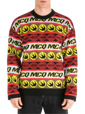 McQ Alexander McQueen  Crew Neck Neckline Jumper Sweater Pullover Swallow