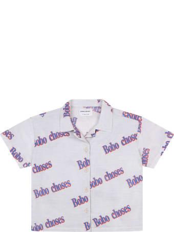 Bobo Choses Grey Shirt For Boy With Logos