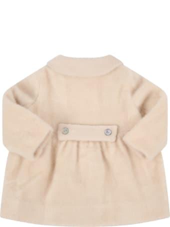 "Caffe' d'Orzo Ivory ""cloe"" Coat For Babygirl"