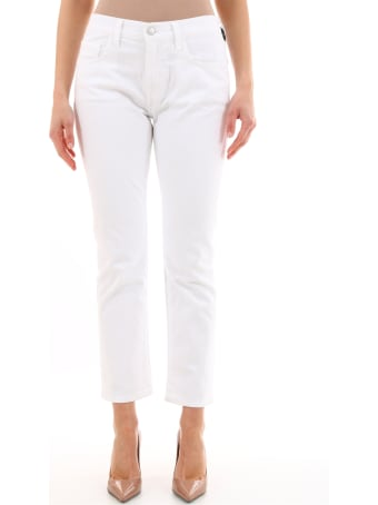 Current/Elliott The Fling Bootcut Denim White