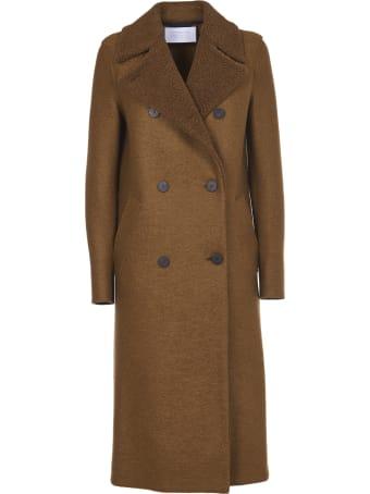 Harris Wharf London Brown Double-breasted Coat
