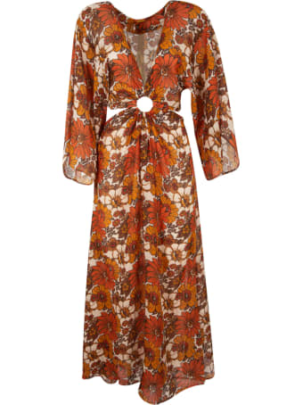 Dodo Bar Or V-neck Floral Print Dress