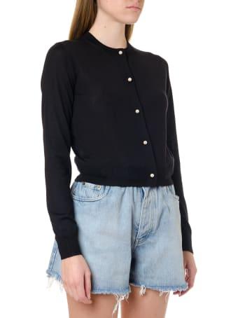 Miu Miu Cashmere Cardigan With Pearl Buttons
