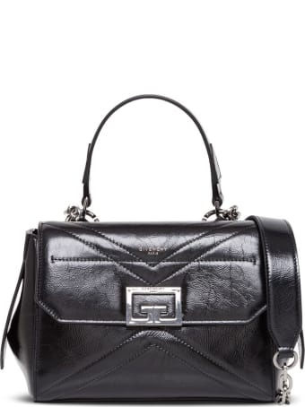 Givenchy Id Flap Small Handbag In Black Leather