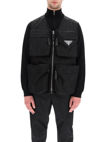 Prada Multi-pocket Vest In Re-nylon