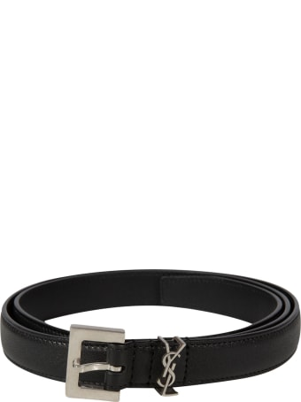 Saint Laurent Loop Logo Detail Belt