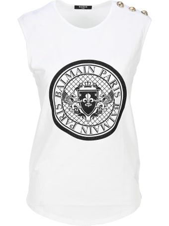 Balmain Balmain Medallion Print T-shirt