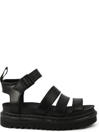 Dr. Martens Blaire Sandal In Black Leather