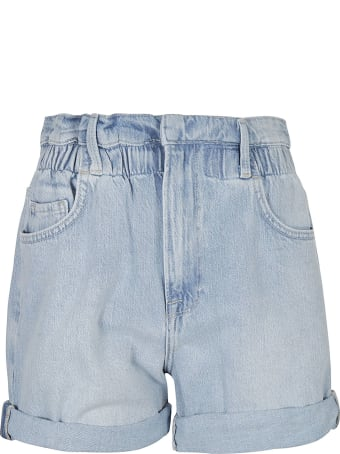 Frame Elastic Waist Denim Shorts