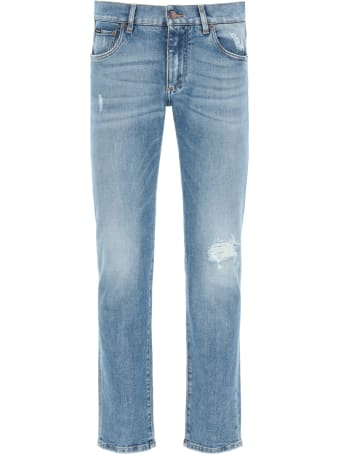Dolce & Gabbana Slim Fit Jeans With Rips