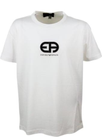 Emporio Armani Short Sleeve Crew Neck T-shirt With Logo