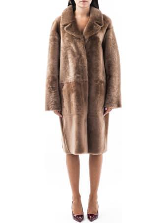 DROMe Shearling Lamb Reversible Coat