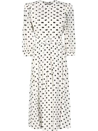 Alessandra Rich Printed Silk Dress