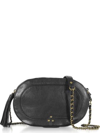 Jerome Dreyfuss Marc Black Leather Shoulder Bag