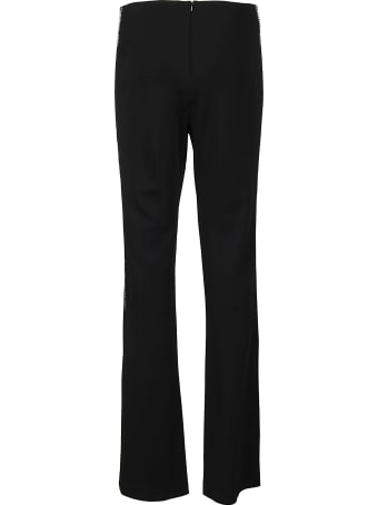 AREA Black Viscose Blend Trousers