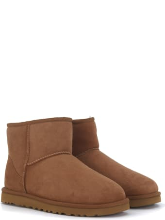 UGG Tronchetto Ugg Classic Ii Mini Marrone In Montone