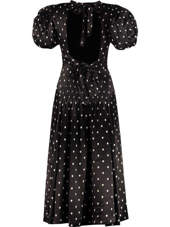 Rotate by Birger Christensen Dawn Polka Dot Print Midi Dress