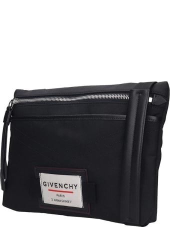 Givenchy Downtown-flat  Waist Bag In Black Nylon