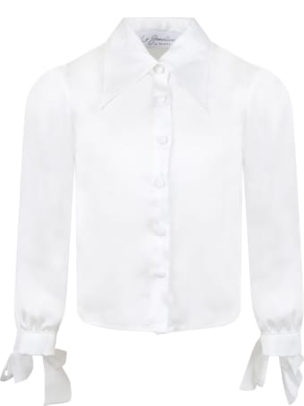 Le Gemelline by Feleppa White Shirt For Girl