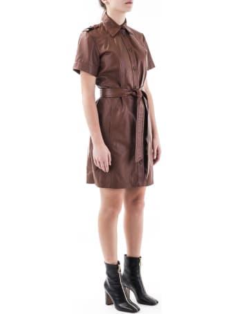 Trussardi Leather Mini Dress