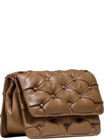 Benedetta Bruzziches 4585 Brown Leather Carmen Clutch Bag