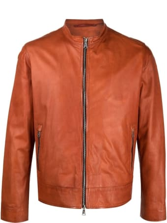 Suprema Orange Leather Jacket