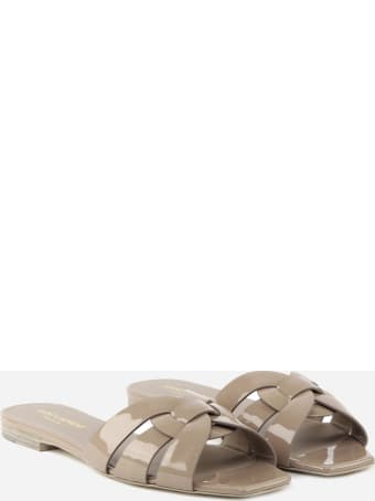 Saint Laurent Flat Nu Pieds 05 Sandals In Patent Leather
