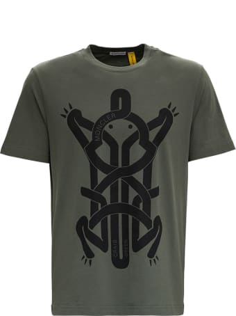 Moncler Genius Tee With Frog Print By Craig Green