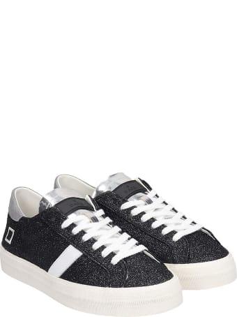 D.A.T.E. Hill Low  Sneakers In Black Glitter