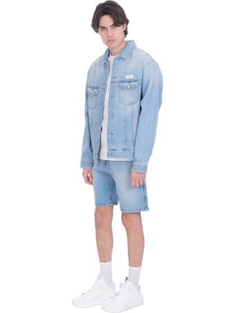 GCDS Jacket In Cyan Cotton