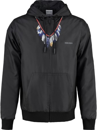 Marcelo Burlon Hooded Nylon Jacket