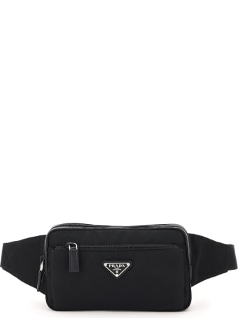 Prada Triangle Logo Fabric Belt Bag