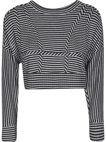 Giovanni Bedin Striped Cropped Top