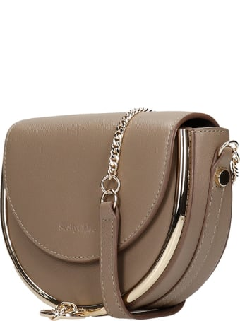See by Chloé Mara Small Shoulder Bag In Grey Leather